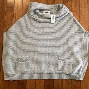 Toddler girls 5T, Old Navy grey knit poncho NWT